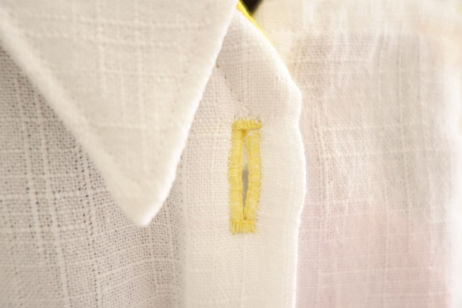 hand-stitched buttonhole
