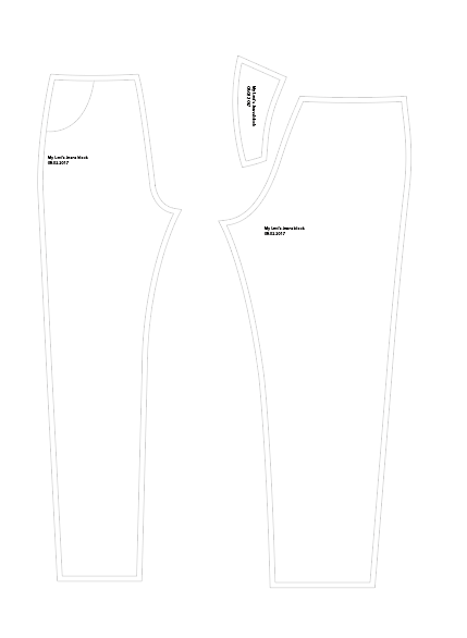 This is the shape of Levi's jeans like the 501s, Wedgie-fit, and 501CT (from memory)